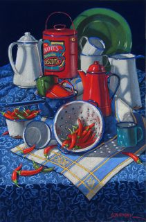 Enamelware and Chillies