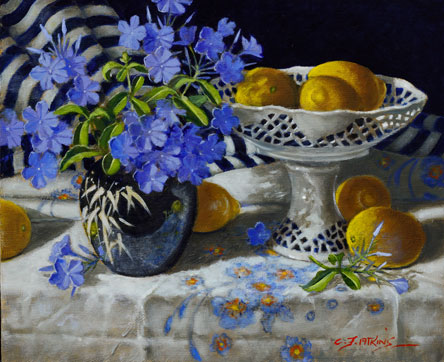 Plumbago and Lemons
