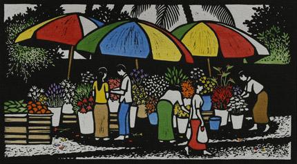 Burmese Flower sellers