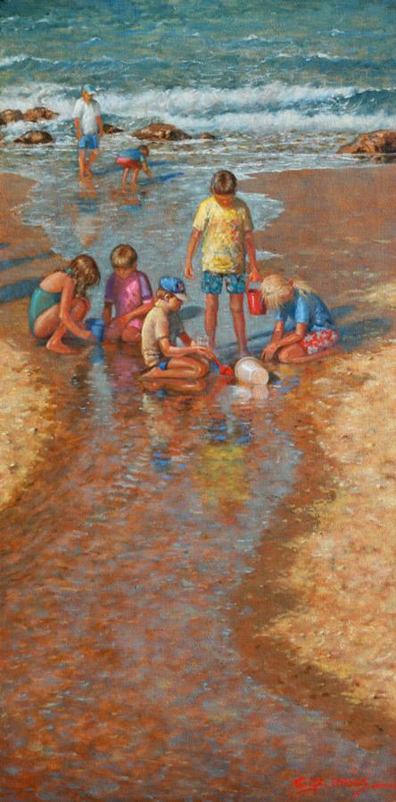 Kids at Coolum Beach
