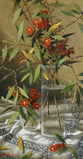 Bottlebrush and leaves