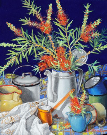 Bottlebrush and Enamelware