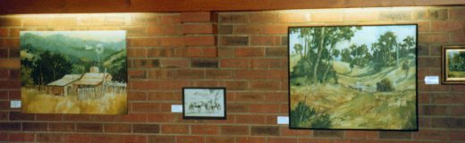 Queensland bush scenes in these two paintings