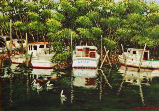 Small boats in Wynnum Creek