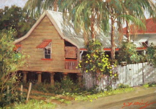 Old style Queensland house on stumps.